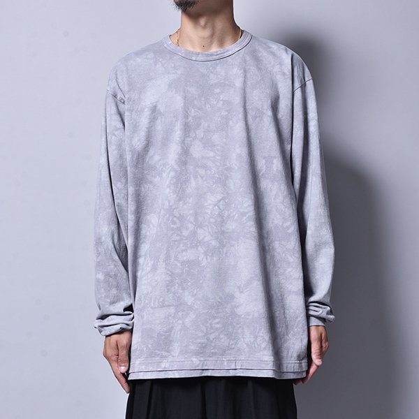 rin / Tie Dye Dust Loose L/S Tee GREY