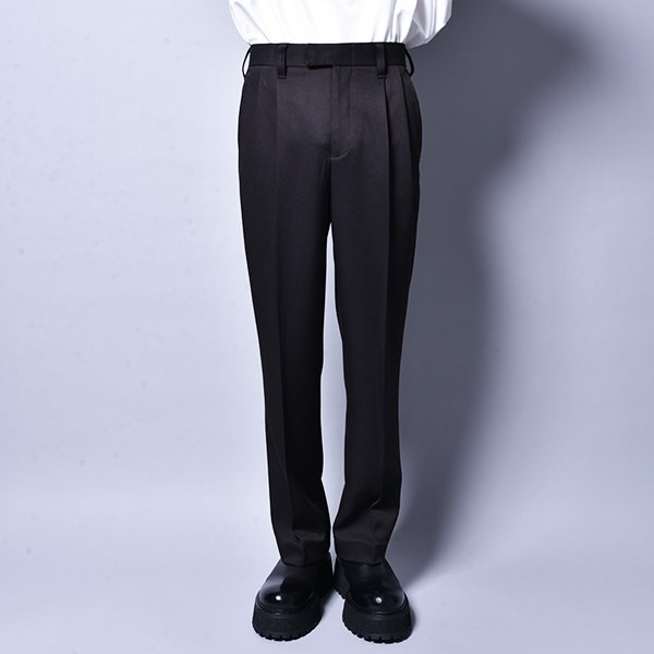 rin / Straight Slacks Pants BK