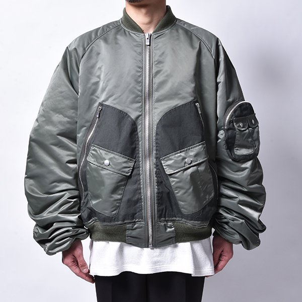 rin / Combat Bom MA-1 Jacket Green