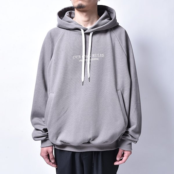 rin / LOGO Embroidery Hoodie GREY