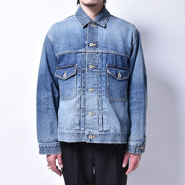 rin / Vintage Wash Denim Jacket BLUE
