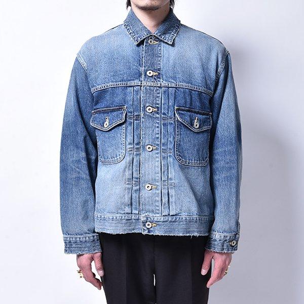 rin / Vintage Wash Denim Jacket BLUE