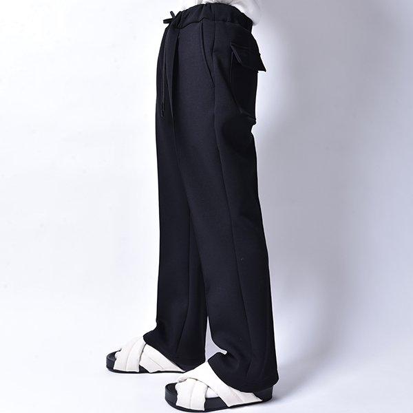 rin / Relax Flare Slacks Pants BK
