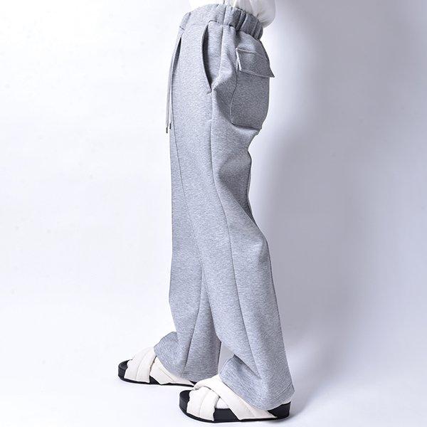 rin / Relax Flare Slacks Pants GREY