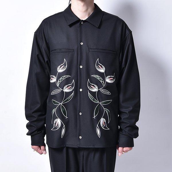 rin / Stine EMB L/S Shirt BK