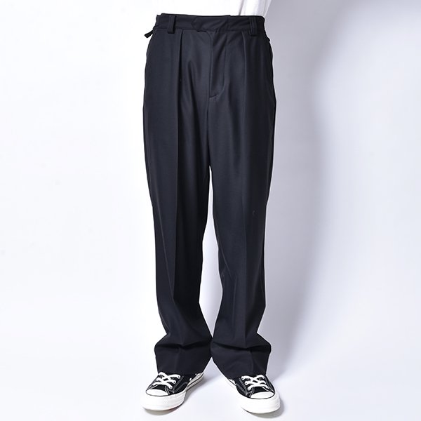 rin / Belt Wide Slacks Pants BK
