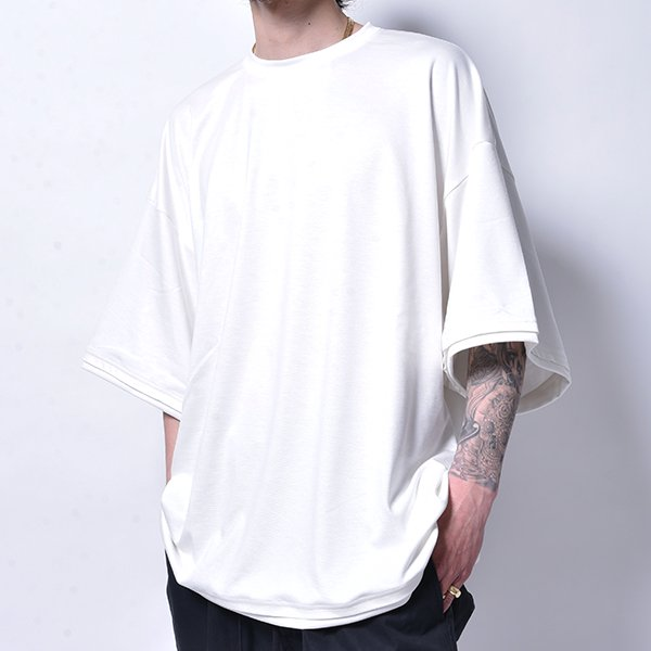 rin / Relax Dolman Big TEE WH