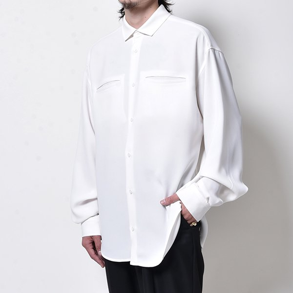 rin / Clean Loose L/S Shirt WH