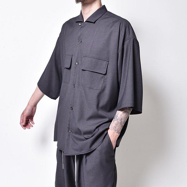 rin / Clean Wide S/S Shirt SMOKE
