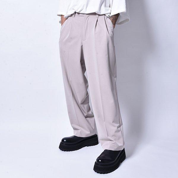 rin / Tuck Wide Slacks Pants GREIGE