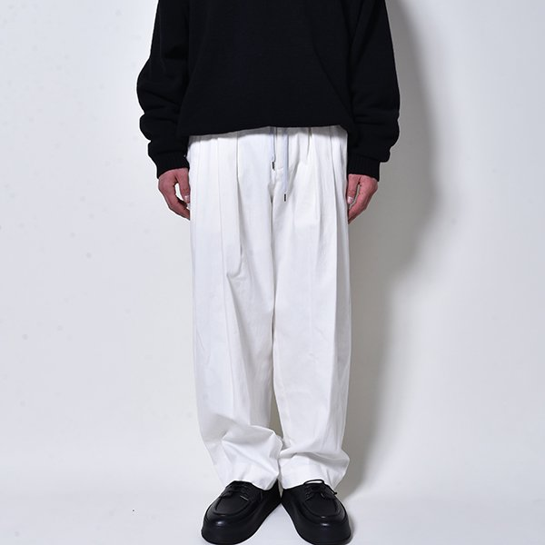 rin / 3Tuck White Wide Pants WH
