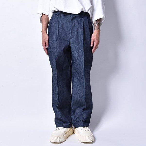 rin / Tuck Wide Slacks Pants DENIM