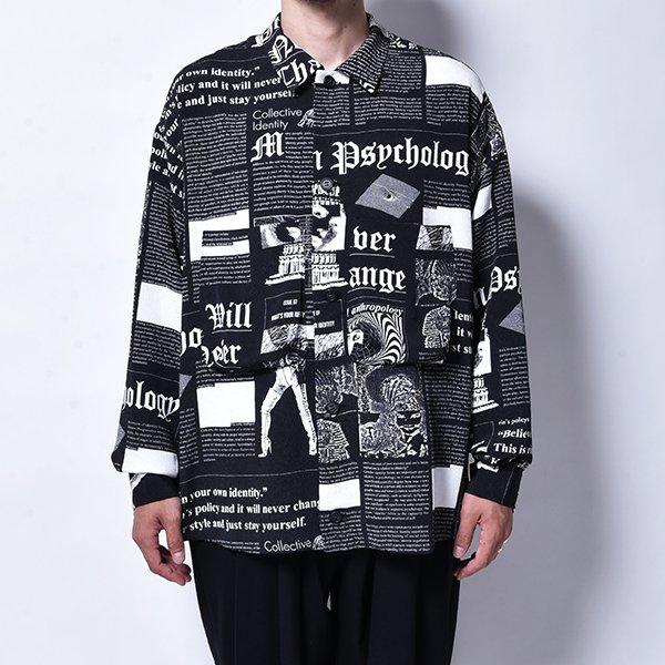 rin / News Horse L/S Shirt BK