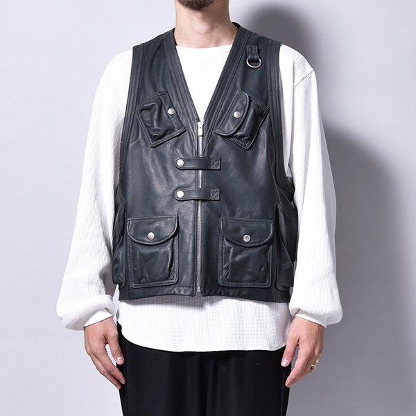 rin / All Leather Combat Vest CHA