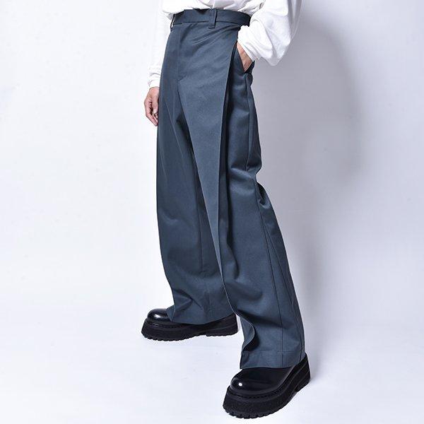 rin / Trick Flare Slacks Pants SMOKE GREEN