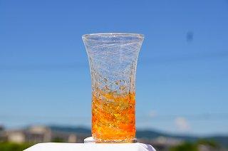 琉球グラス泡チップ(ロング)&コルクコースターセット