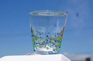 琉球グラス美ら海&コルクコースターセット