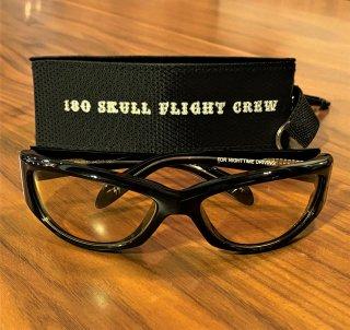 【SKULL FLIGHT/スカルフライト】 180シェード ナイトドライブ ライトイエロー