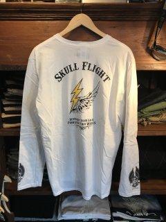 【SKULL FLIGHT/スカルフライト】 ロングスリーブ サンダー