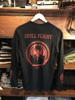 【SKULL FLIGHT/スカルフライト】 ロングスリーブ コウモリ