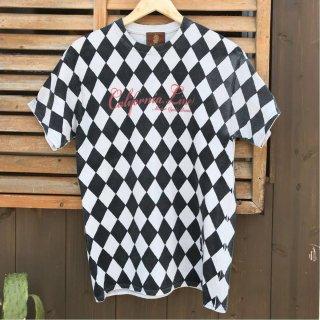 【CALIFORNIA LINE/カリフォルニアライン】 ダイヤ柄Tシャツ 6色