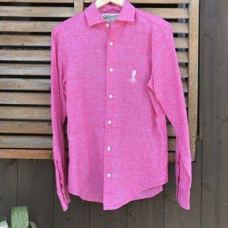 【CALIFORNIA LINE/カリフォルニアライン】 ピンク リネンシャツ