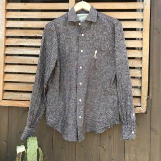 【CALIFORNIA LINE/カリフォルニアライン】 ブラウングレー リネンシャツ