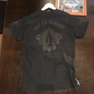 【SKULL FLIGHT】  1%サイドジップTシャツ スカルフライト