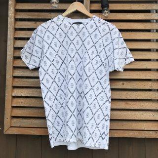 【SKULL FLIGHT】 クロス柄Tシャツ 2カラー スカルフライト