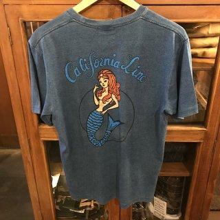 ※格安【CALIFORNIA LINE】 カリフォルニアライン マーメイドTシャツ胸ポケ ブルー