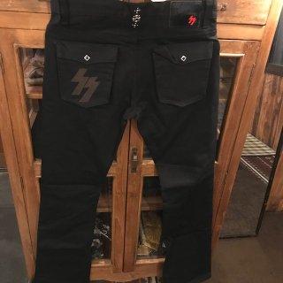 【SKULL FLIGHT/スカルフライト】SS PANTS type2 ブラック ブーツカット