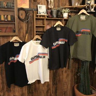【CALIFORNIA LINE】 レインボーラインTシャツ 4色 カリフォルニアライン