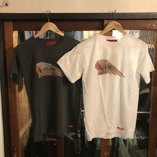 《Indian》ピグメントTシャツ ヘッドマーク インディアンモトサイクル
