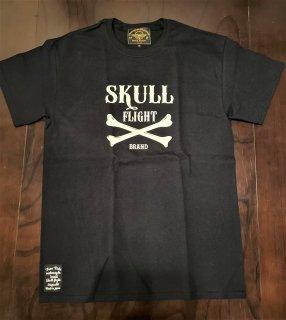 【SKULL FLIGHT】 クロスボーン Tシャツ スカルフライト