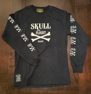 【SKULL FLIGHT】 クロスボーン ロングTシャツ スカルフライト