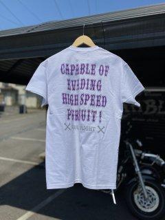 【SKULL FLIGHT】HIGHSPEED サイドジップTシャツ スカルフライト