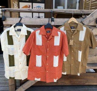 【児島ジーンズ】キューバシャツ 3カラー