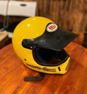 【BELL】ベル純正バイザー付  MOTO4 イエロー 57cm モト4 オフロードビンテージヘルメット