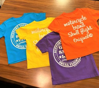【SKULL FLIGHT】キッズTシャツ 4カラー スカルフライト
