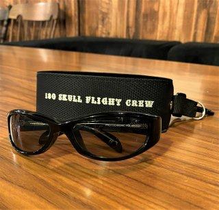 """【SKULL FLIGHT】180シェード/FR-001調光偏光レンズ """"スモーク"""""""
