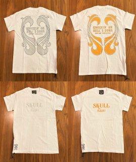 【SKULL FLIGHT】ラメ 2カラー サイドジップTシャツ スカルフライト