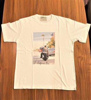 【CALIFORNIA LINE】 ワッペン・フォトTシャツ ハーレー カリフォルニアライン