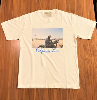 【CALIFORNIA LINE】 ワッペン・フォトTシャツ ピース カリフォルニアライン