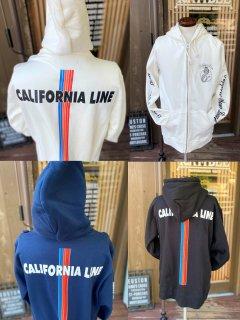 【CALIFORNIA LINE】レインボー ジップパーカー 3カラー カリフォルニアライン