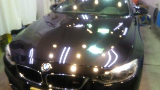 BMWM4・ボディガラスコーティング施工のご依頼!【画像4】