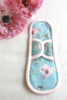 ホルダー付き布ナプキン(ハンカチ付き) ブルー