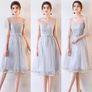パーティーやウェディングのゲストドレスに◇チュールワンピース 大きいサイズ
