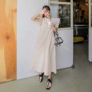 ボリュームフリルがかわいい◇パンツオールインワン パンツドレス