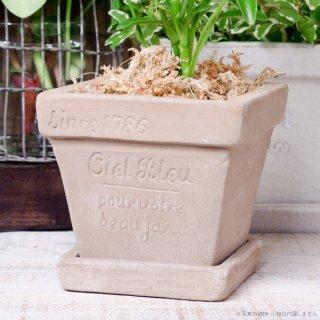 プランター おしゃれ 植木鉢 素焼きのナチュラルプランター スクエア ミニ 約3.5号