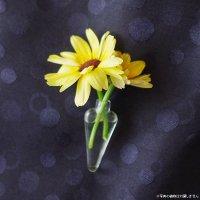 身に着けられる小さなガラスの花瓶 PINKIE・日本郵便クリックポスト対応:可/1通2個まで